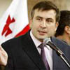 Georgia President Mikhail Saakashvili <br /> Photo courtesy of http://english.pravda.ru